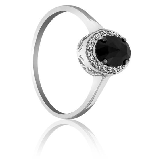 2e61eefbff39 Anillo Dark Oval Diamante Negro 0.60 Quilates