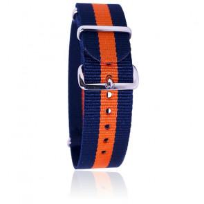 Correa azul/naranja