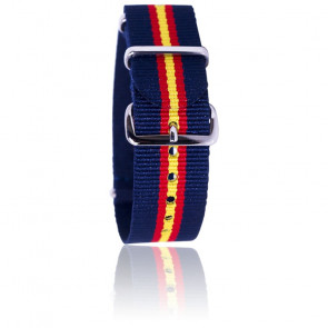 Correa azul/roja/amarilla