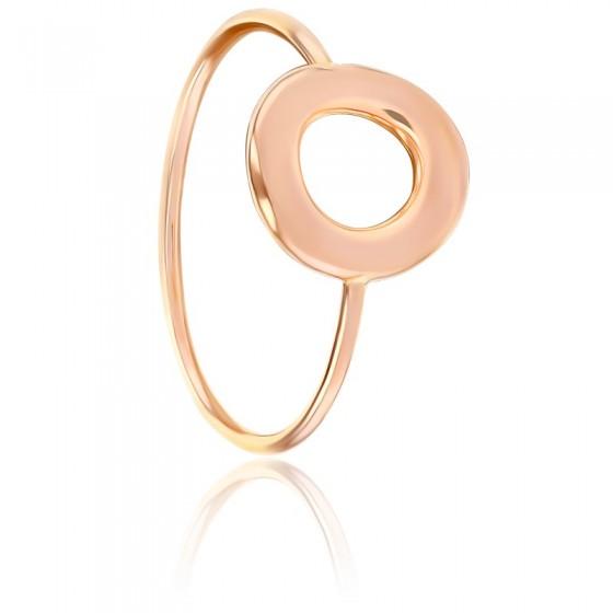 a0087bd70585 Anillo de Oro rosa 18k con un sencillo diseño - Ocarat