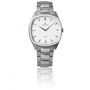 Reloj Decagon / Steel / White / Correa de acero K01004