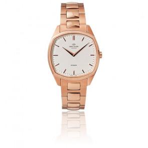 Reloj Octagon /Rose Gold /White /Correa de acero rosa K02007
