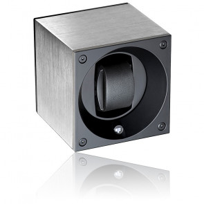 Caja Rotativa Single Alu Eloxe Silver Cepillada