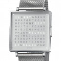 Reloj Qlocktwo W39 Fine Steel Milanaise