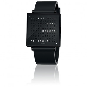 Reloj Qlocktwo W39 Black Steel Rubber
