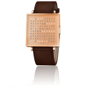 Reloj Qlocktwo W39 Copper Leather Vintage Brown