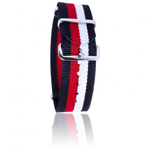 Correa negro/rojo/blanco
