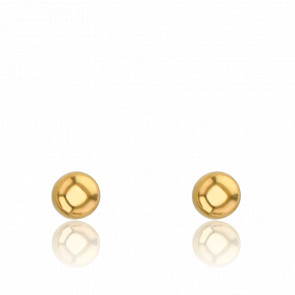 Pendientes Esferas 4 x 4 mm Oro Amarillo 9K