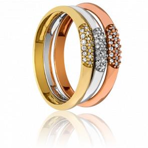 Anillos Vindhya Trio Oros y Diamantes