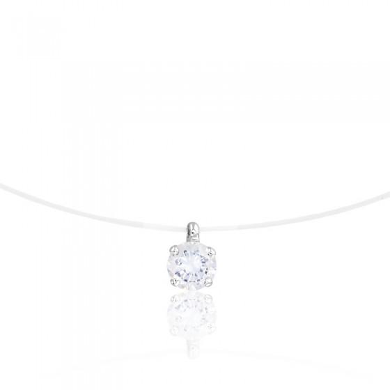 b0159cd774eb Collar de Hilo de Pescar con Diamante G SI2 - Diamond Lady - Ocarat