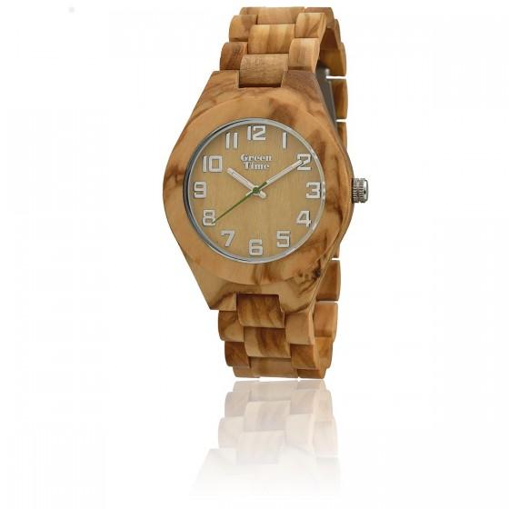 mejor selección 3b3ee 3a680 Reloj de madera sostenible Olive Wood ZW058A - Green Time - Ocarat
