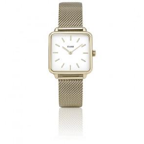 Reloj La Garçonne Gold Mesh/White CL60002