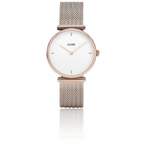 Reloj Triomphe Rose Gold Mesh CL61003