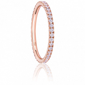 Anillo Eternity Oro Rosa & Diamantes