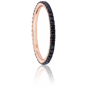 Anillo Eternity Oro Rosa & Diamantes Negros