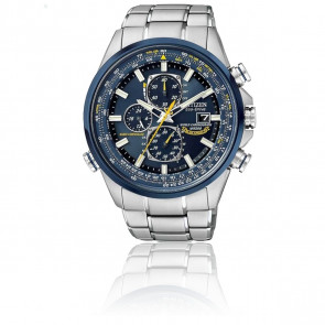 Reloj Cronógrafo Atómico Eco-Drive Blue Angels AT8020 -54L