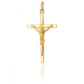 Medalla Cruz con Cristo Oro amarillo 9k,