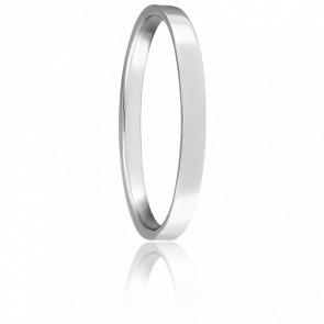 Alianza boda Bienestar parisino de platino 2 mm