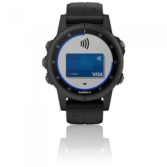 Reloj Fēnix 5S Plus  Black Sapphire 010-01987-03