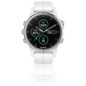 Reloj Fēnix 5S Plus Plateado Zafiro 010-01987-01