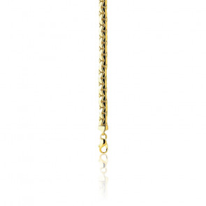 Cadena Rolo Cerrado Hueca 60 cm Oro Amarillo 18 kt