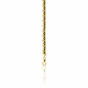 Cadena rolo cerrado hueca 50 cm oro amarillo 18K