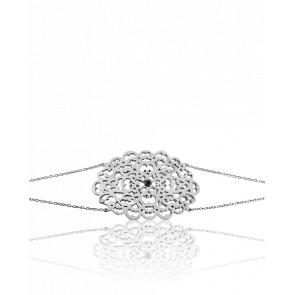 Pulsera círculo encaje plata & diamante