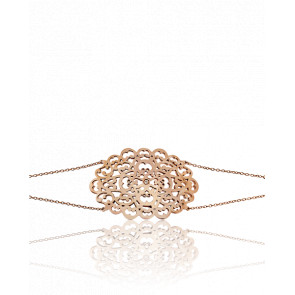 Pulsera círculo encaje rosa&diamante