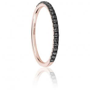 Anillo Half Eternity Diamante Negro 0,25 ct & Oro Rosa 18K