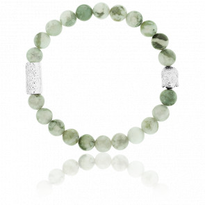 Pulsera Jade de la Paz & Buddha Plateado