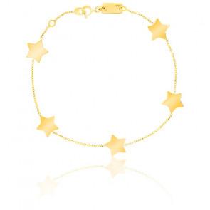 Pulsera de 5 estrellas oro amarillo de 9K