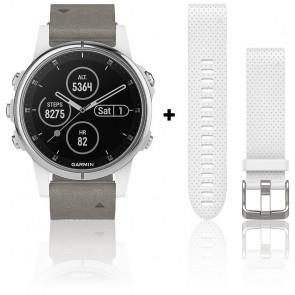 Reloj Fēnix 5S Plus Silver Sapphire 010-01987-05