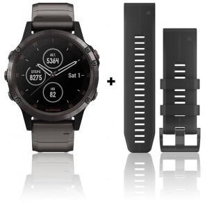 Reloj Fēnix 5 Plus Gray Sapphire Titanio  010-01988-03