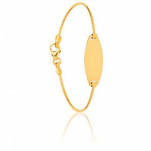 Pulsera de Caña Personalizable Ovalada Oro Amarillo