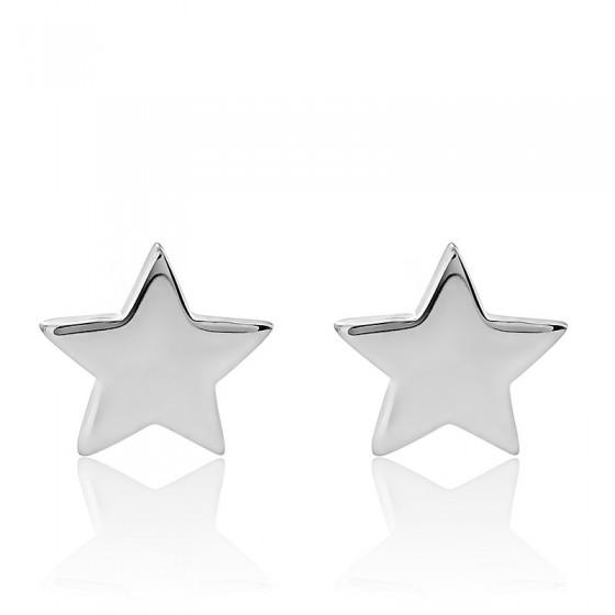 585a709bbf21 Pendientes de plata forma Estrellas - Pendientes Enomis - Ocarat