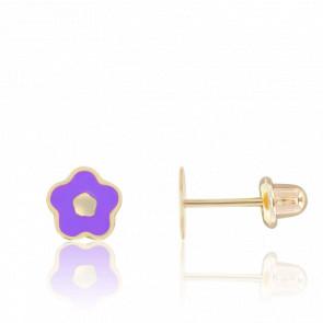 Pendientes de Oro Amarillo 9K Flores