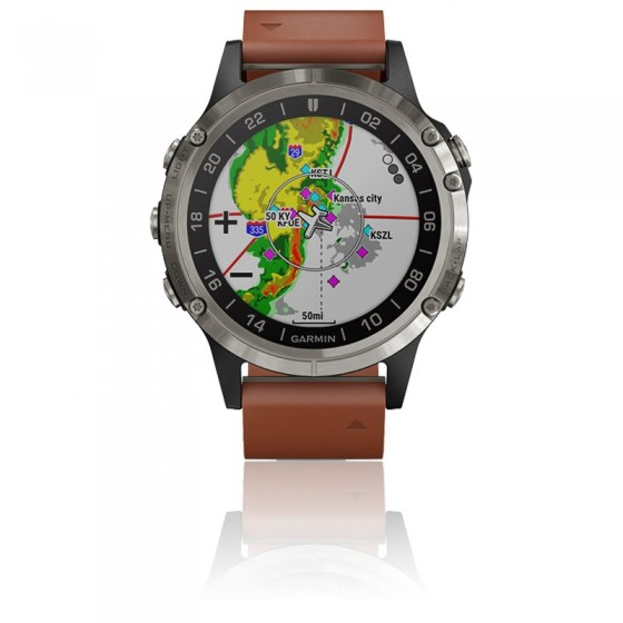 Reloj D2™ Delta Aviator Watch Brown Leather Band 010-01988-31