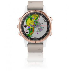 Reloj D2™ Delta S Aviator Watch con correa en piel Beige 010-01987-31