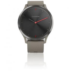 Reloj Vivomove HR Sport negro correa silicona beige  010-01850-03