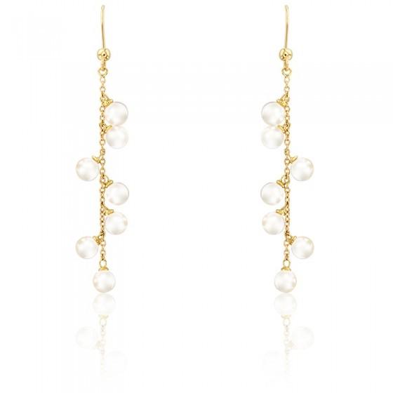 62c4231d086a Pendientes de oro amarillo con perlas - Porchet - Ocarat