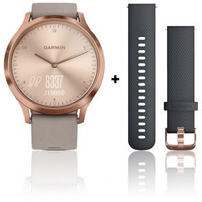 Reloj Vivomove HR Premium Rose Gold Correa Ante Gris  010-01850-09