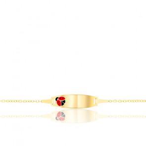 Pulsera Mariquita - Cadena rolo de oro amarillo 9K
