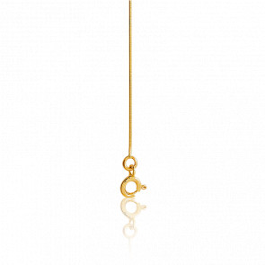 Cadena Serpentina 40 cm Oro Amarillo