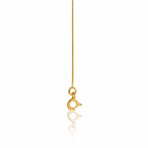Cadena Serpentina 50 cm Oro Amarillo
