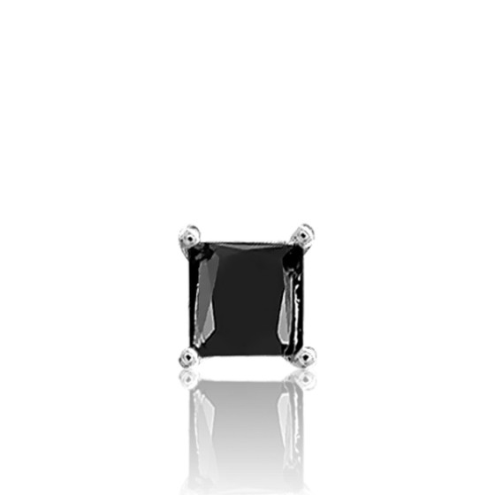 b9208527fc8b Pendiente oro blanco de 18kts y diamante negro - Ocarat