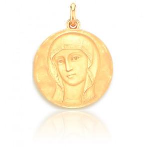 Medalla Virgen Bizantina Oro Amarillo 18k