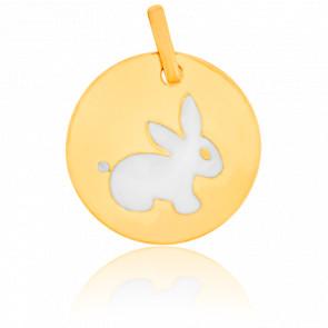 Colgante Redondo conejo Oro Amarillo