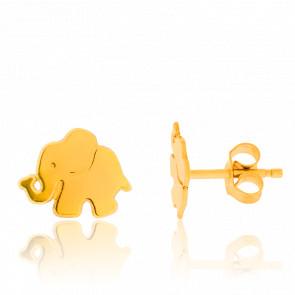 Pendientes Elefantes Oro Amarillo