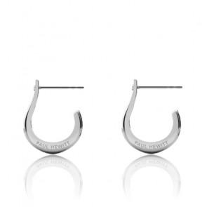 Boucles d'oreilles Shackle Hoop, acier inoxydable