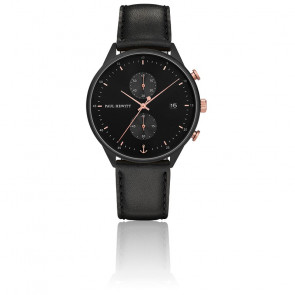 Reloj Chrono Line Black Sunray IP Noir / Or Rose PH-C-B-BSR-2M